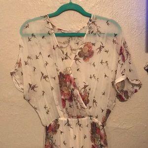 Cream maxi dress from Zara.